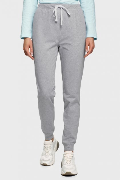 Жіночі сірі спортивні штани Oodji XL 16701082/47420/2000M - зображення 1