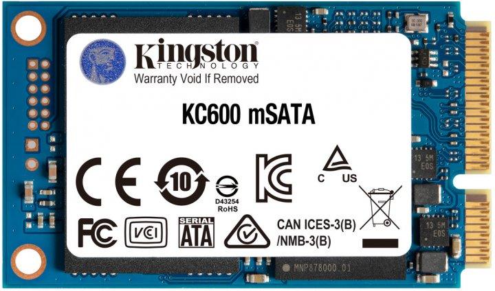 Kingston SSD KC600 512GB mSATA SATAIII 3D NAND TLC (SKC600MS/512G) - зображення 1