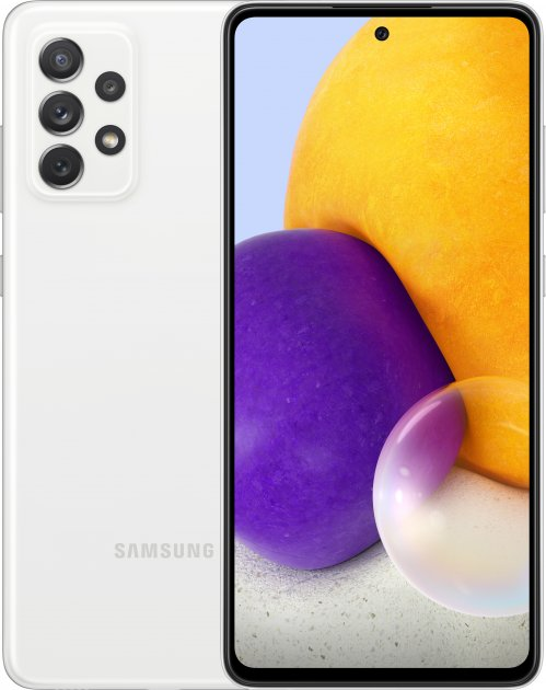 Мобільний телефон Samsung Galaxy A72 6/128 GB White - зображення 1