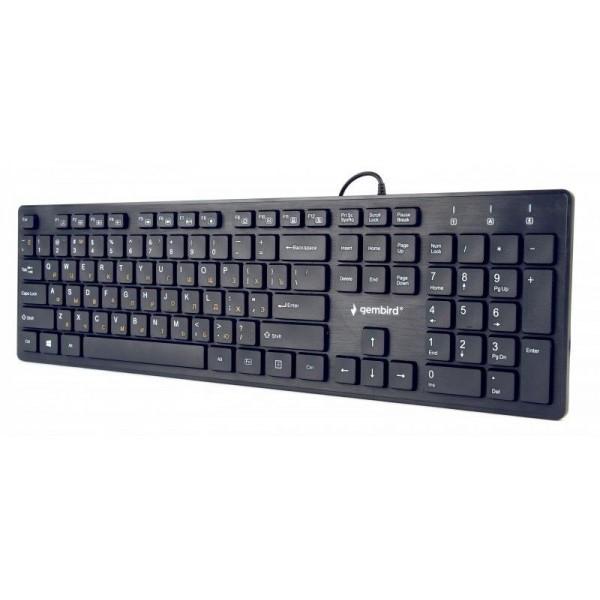 Клавіатура Gembird KB-MCH-03-UA USB (EN/RU/UA) (8716309923514) - изображение 1