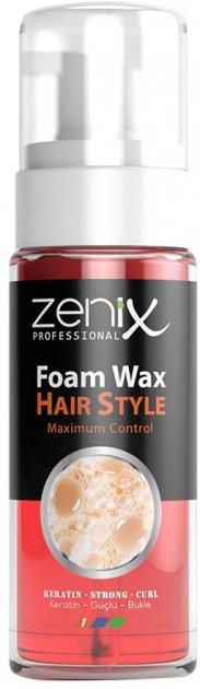 Воскова піна для волосся Zenix Кератин Ефект 150 мл (8680075542500) - зображення 1