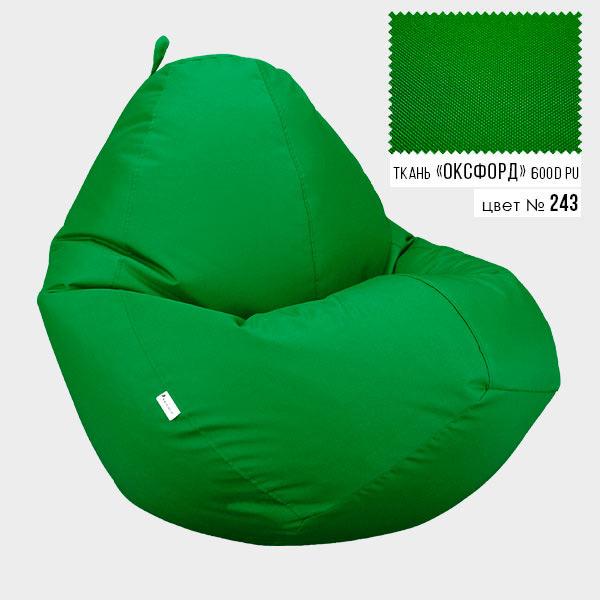 Безкаркасне крісло мішок груша Овал Coolki XXXL 100x140 Зелений (Оксфорд 600D PU) - зображення 1