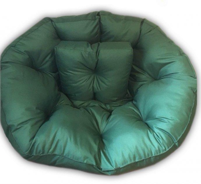 Крісло трансформер матрац з подушкою безкаркасне розкладне лежак Зелене M (12397701) - зображення 1