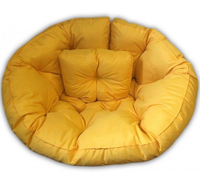 Крісло трансформер матрац з подушкою безкаркасне розкладне лежак Жовтий M (12397705) - зображення 1
