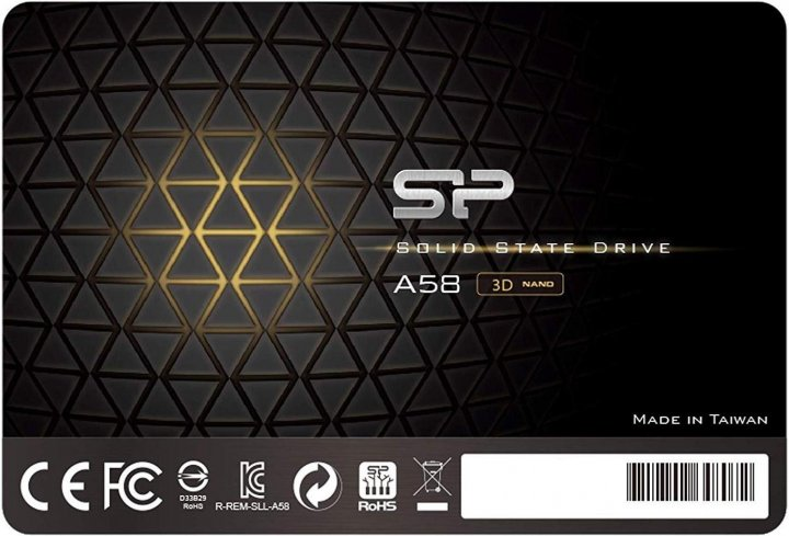 "Silicon Power A58 256GB 2.5"" SATAIII 3D NAND TLC (SP256GBSS3A58A25) - изображение 1"