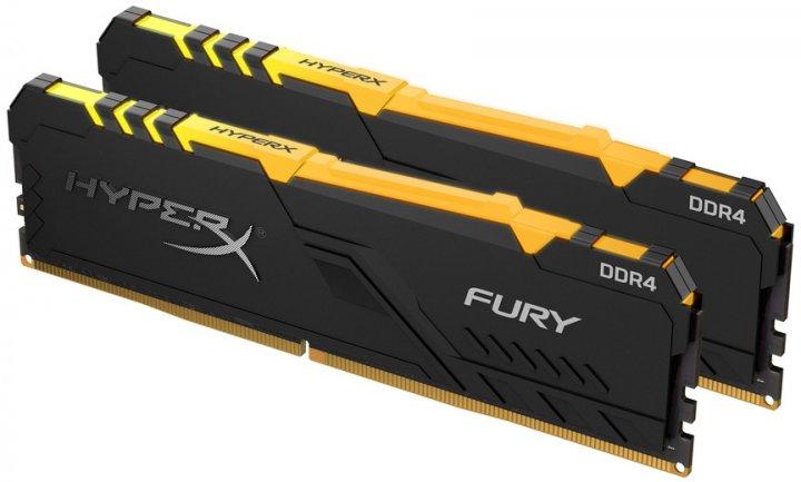 Оперативна пам'ять HyperX DDR4-3200 16384MB PC4-25600 (Kit of 2x8192) Fury RGB Black (HX432C16FB3AK2/16) - зображення 1