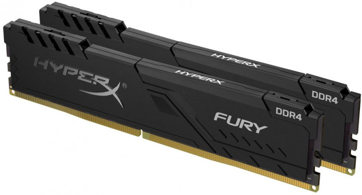Оперативная память HyperX DDR4-2666 32768MB PC4-21300 (Kit of 2x16384) Fury Black (HX426C16FB3K2/32) - изображение 1