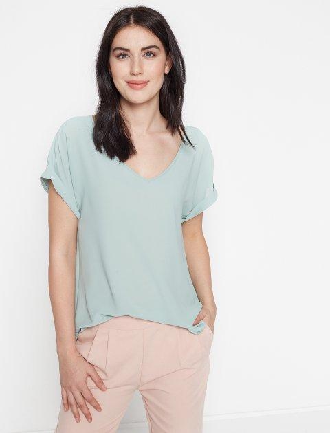 Блузка Koton 7YAB67998OW 44 Green (8681507759558) - изображение 1