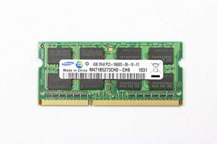 Оперативна пам'ять Samsung (SO-DIMM, DDR3, 4Gb, 1333MHz, M471B5273CH0-CH9) Б/У - зображення 1