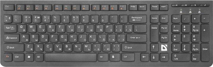 Клавіатура бездротова Defender UltraMate SM-535 Black (45535) - зображення 1