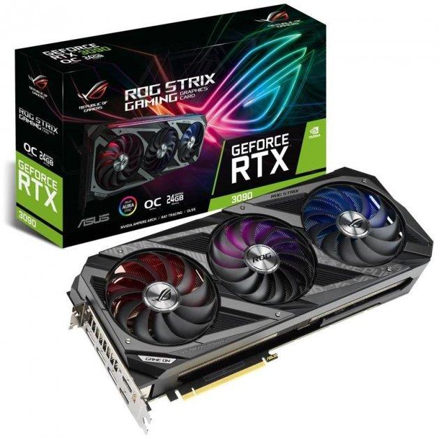Відеокарта ASUS RTX 3090 24Gb ROG Strix Gaming OC (ROG-STRIX-RTX3090-O24G-GAMING) - зображення 1
