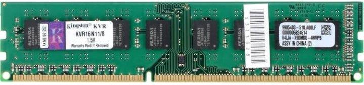 Оперативна пам'ять Kingston DDR3-1600 8192MB PC3-12800 (KVR16N11/8) - зображення 1