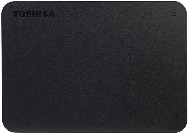 """Жорсткий диск Toshiba Canvio Basics + USB-C адаптер 2TB HDTB420EK3ABH / HDTB420EK3AB 2.5"""" USB 3.2 Gen1 External Black - зображення 1"""