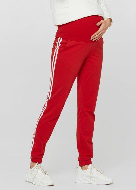 Спортивні штани з лампасами для вагітних Lullababе Lublin Червоний M - зображення 1