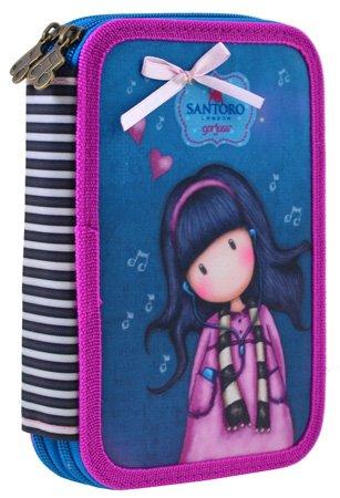 Пенал Yes Santoro Little Song HP-01 твердый двойной без наполнения (532681) (5056137155101) - изображение 1