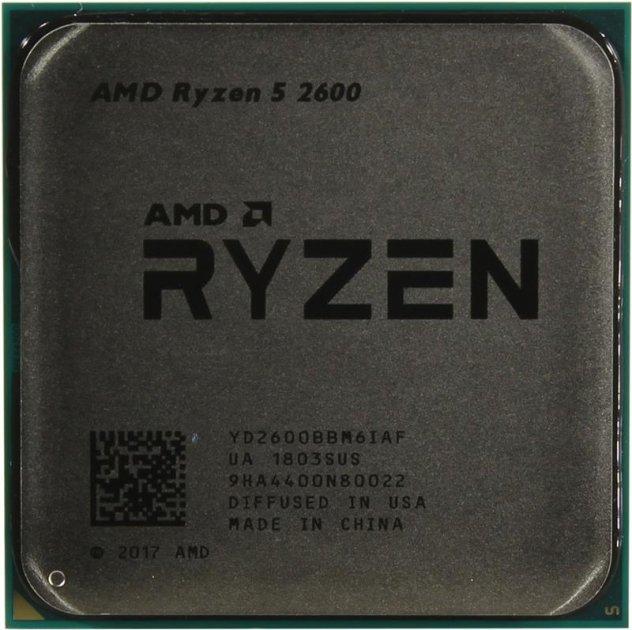Процессор AMD Ryzen 5 2600 (3.4GHz 16MB 65W AM4) Tray (YD2600BBM6IAF) - изображение 1