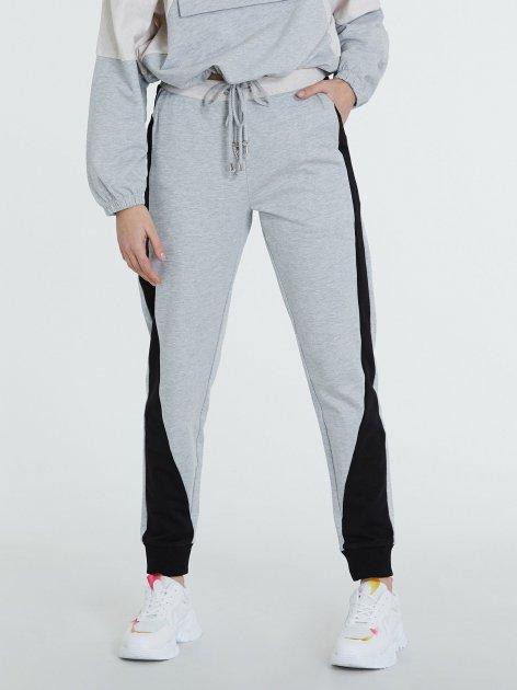 Спортивні штани Piazza Italia 39312-1655 S Grey Melange (2039312002035) - зображення 1