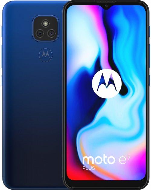 Мобильный телефон Motorola E7 Plus 4/64GB Blue (PAKX0008RS) - изображение 1