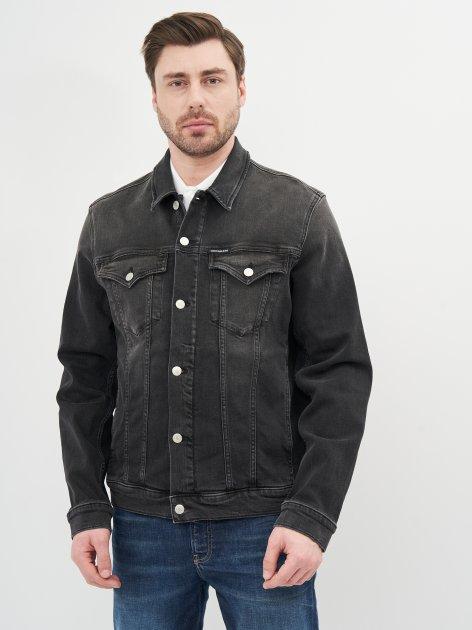 Джинсова куртка Calvin Klein Jeans Foundation Jacket J30J317247-1BY L Denim Black (8719853601426) - зображення 1