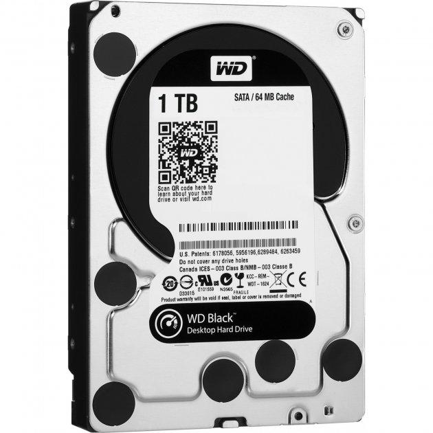 Накопитель HDD SATA 1.0TB WD Black 7200rpm 64MB (WD1003FZEX) - Refubrished - изображение 1