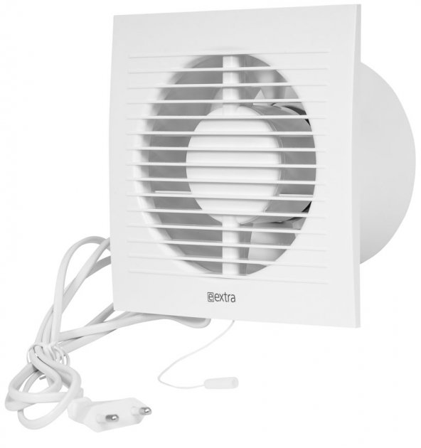 Вытяжной вентилятор Europlast E-EXTRA EE150WP c проводом и выключателем белый - изображение 1