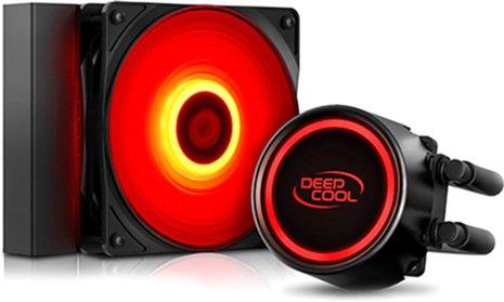Система жидкостного охлаждения DeepCool Gammaxx L120 T Red - изображение 1