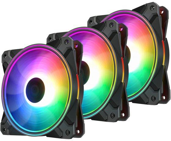 Набор RGB вентиляторов DeepCool для корпуса СF120 Plus (3 in 1) - изображение 1