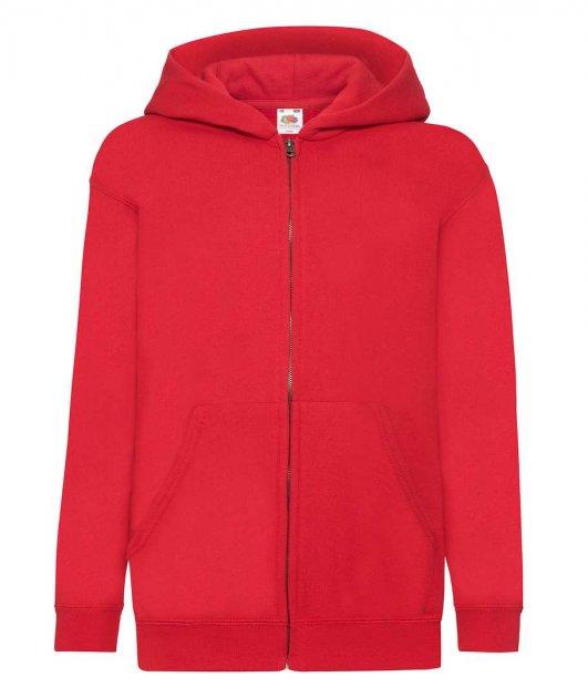 Толстовка Fruit of the Loom Classic hooded sweat jacket kids 152 см Красный (062045040152) - изображение 1