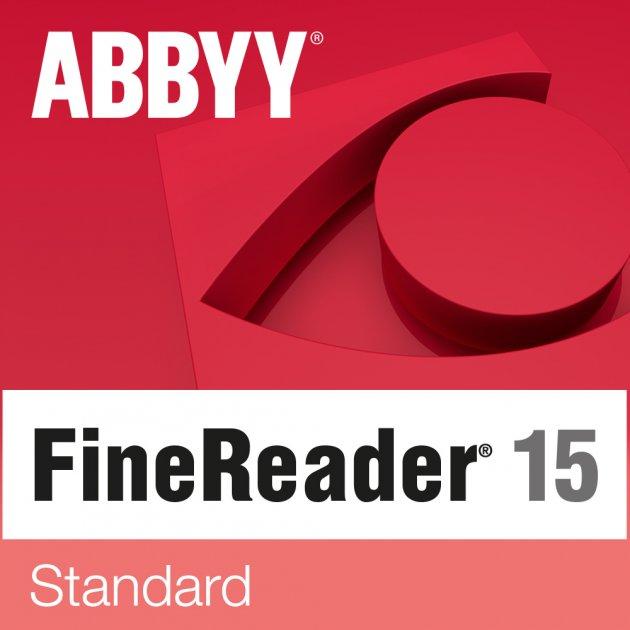ABBYY FineReader 15 Standard. Корпоративная лицензия на рабочее место (от 26 до 50) - изображение 1