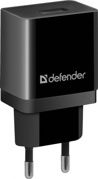 Сетевое зарядное устройство Defender UPA-21 1xUSB 5V/2.1А Black (83577) - изображение 1