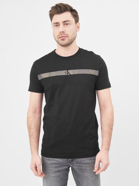Футболка Calvin Klein Jeans Horizontal Ck Panel Tee J30J317165-BEH XXL Black (8719853726372) - изображение 1