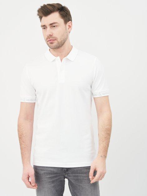 Поло Calvin Klein Jeans Logo Jacquard Polo J30J317283-YAF XXL Bright White (8719853576311) - изображение 1