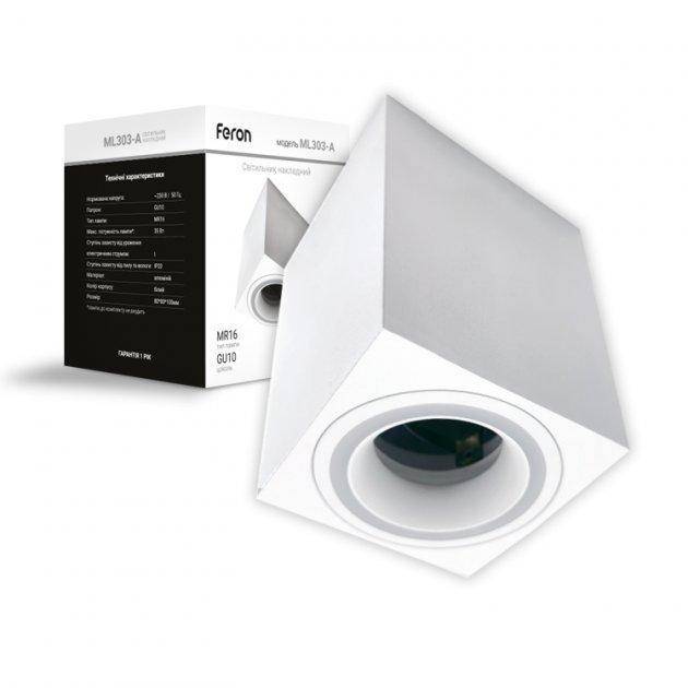 Світильник накладної Feron ML303-A GU10 білий - зображення 1