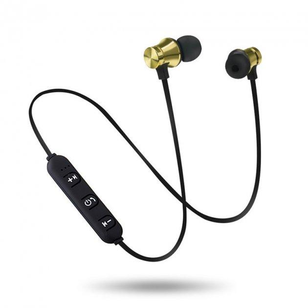 Наушники беспроводные вакуумные с микрофоном гарнитура Bluetooth H21 Золотой - изображение 1