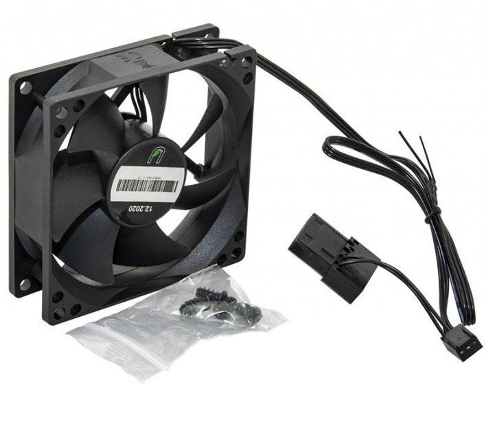 Вентилятор UPower UP8025HB34.20 80мм, 3pin+Molex - зображення 1