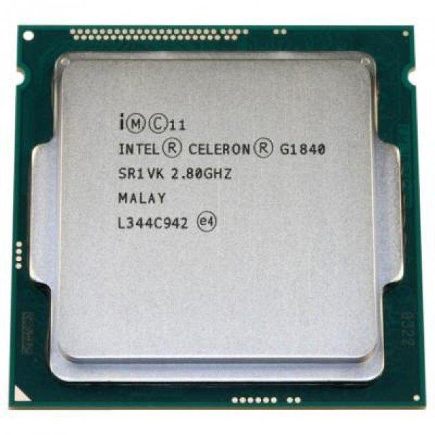 Процессор Intel Celeron G1840 2.8GHz (2MB, Haswell, 53W, S1150) Tray (CM8064601483439) Refurbished - зображення 1