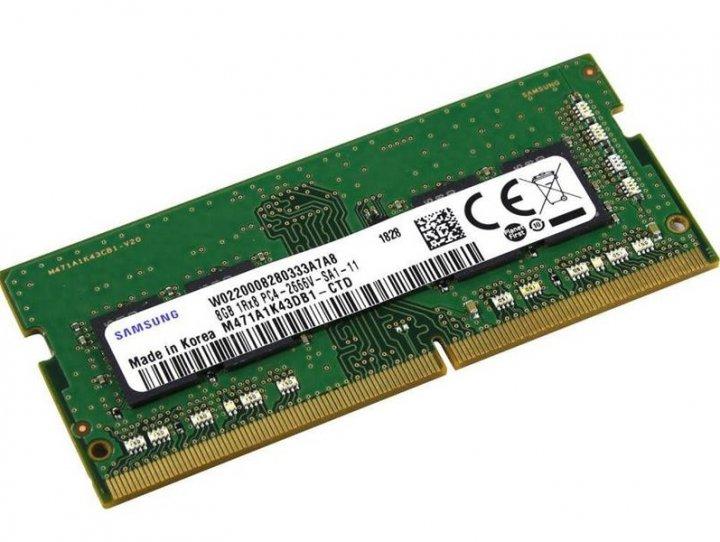 Модуль памяти SO-DIMM 8GB/2666 DDR4 Samsung (M471A1K43DB1-CTD) - изображение 1