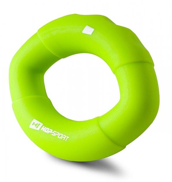 Еспандер силіконовий овальний 13,6 кг Hop-Sport HS-S013OG зелений - изображение 1