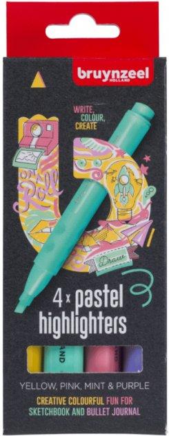 Набор маркеров Bruynzeel Highlighter Pastel 4 цвета (8712079453855) - изображение 1