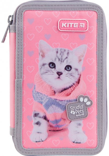 Пенал без наполнения Kite Education Studio Pets 2 отделения Розовый (SP21-623) - изображение 1