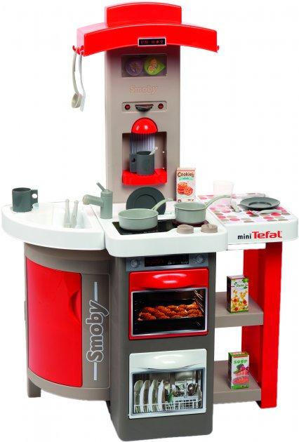 Интерактивная кухня Smoby Toys Тефаль Повар раскладная со звуковым эффектом Красная (312202) (3032163122029)