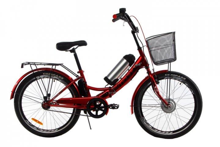 Электровелосипед складной Formula Smart складной передний привод с заниженной рамой 36V 10 Ah 350 Вт красный (FS21R) - изображение 1