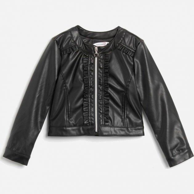 Куртка из искусственной кожи Coccodrillo Cutest Ever W20152201CUT-021 116 см Темно-серая (5904705063313)