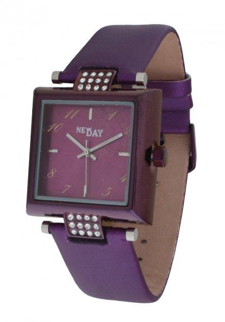 Женские часы NewDay квадратные сиреневые - изображение 1