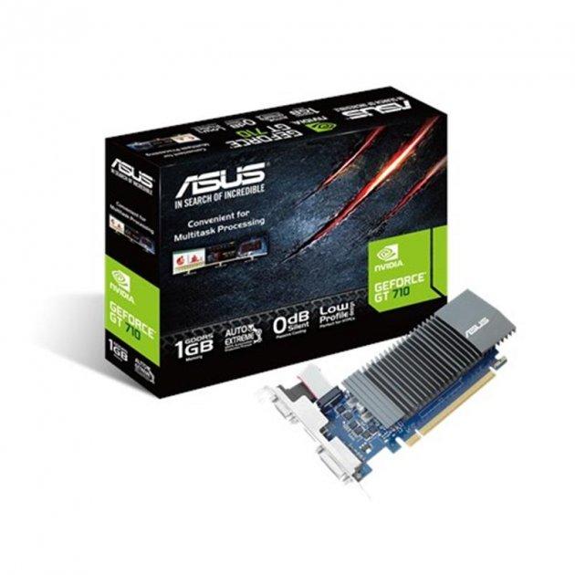 Видеокарта GF GT 710 1GB GDDR5 Asus (GT710-SL-1GD5-BRK) - изображение 1