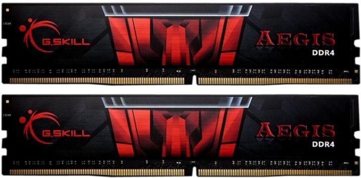 Память DDR4 8Gb x 2 (16Gb Kit), 3200 MHz, G.Skill Aegis, 16-18-18-36, 1.35V (F4-3200C16D-16GIS) - изображение 1