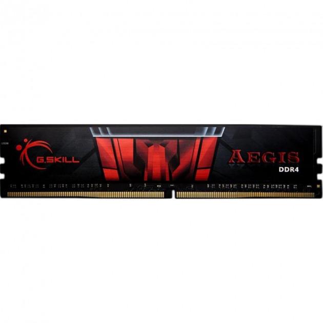 Пам'ять DDR4 8Gb, 3000 MHz, G. Skill Aegis, 16-18-18-38, 1.35 V, з радіатором (F4-3000C16S-8GISB) - зображення 1