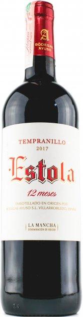 Вино Estola 12 Месес Темпранильо Estola D.O. La Mancha красное сухое 13% 0.75 л (8410479510238) - изображение 1