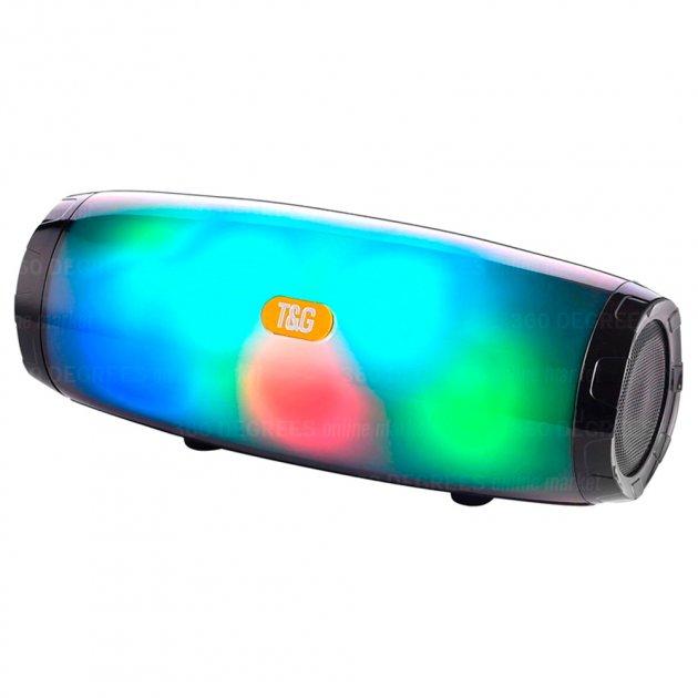 Bluetooth-колонка з LED підсвічуванням TG-165, Потужністю 10W, Акумулятор 1200mAh Чорний - зображення 1