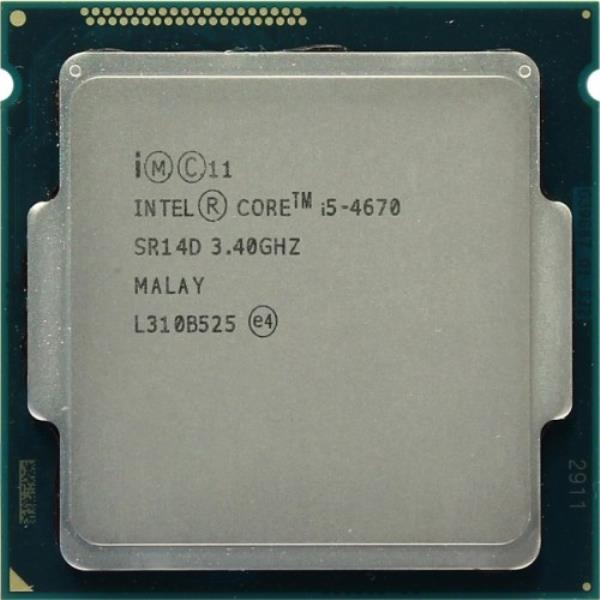 Процессор Intel Core i5-4670 (S1150/4x3.4GHz/5GT/s/6MB/84 Вт/BX80646I54670) Б/У - изображение 1